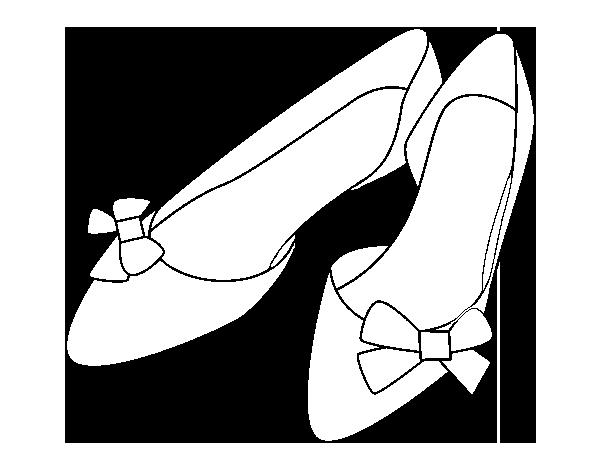Dibujo De Zapatos Con Lazos Para Colorear Dibujosnet