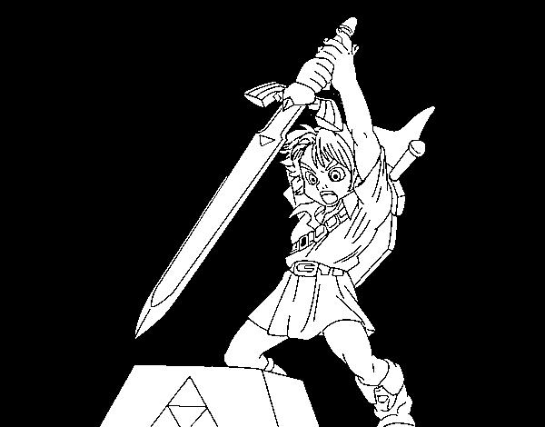 Dibujo De Zelda Para Colorear Dibujosnet