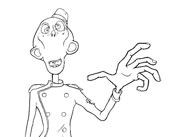 Dibujo De Zombie Botones Para Colorear
